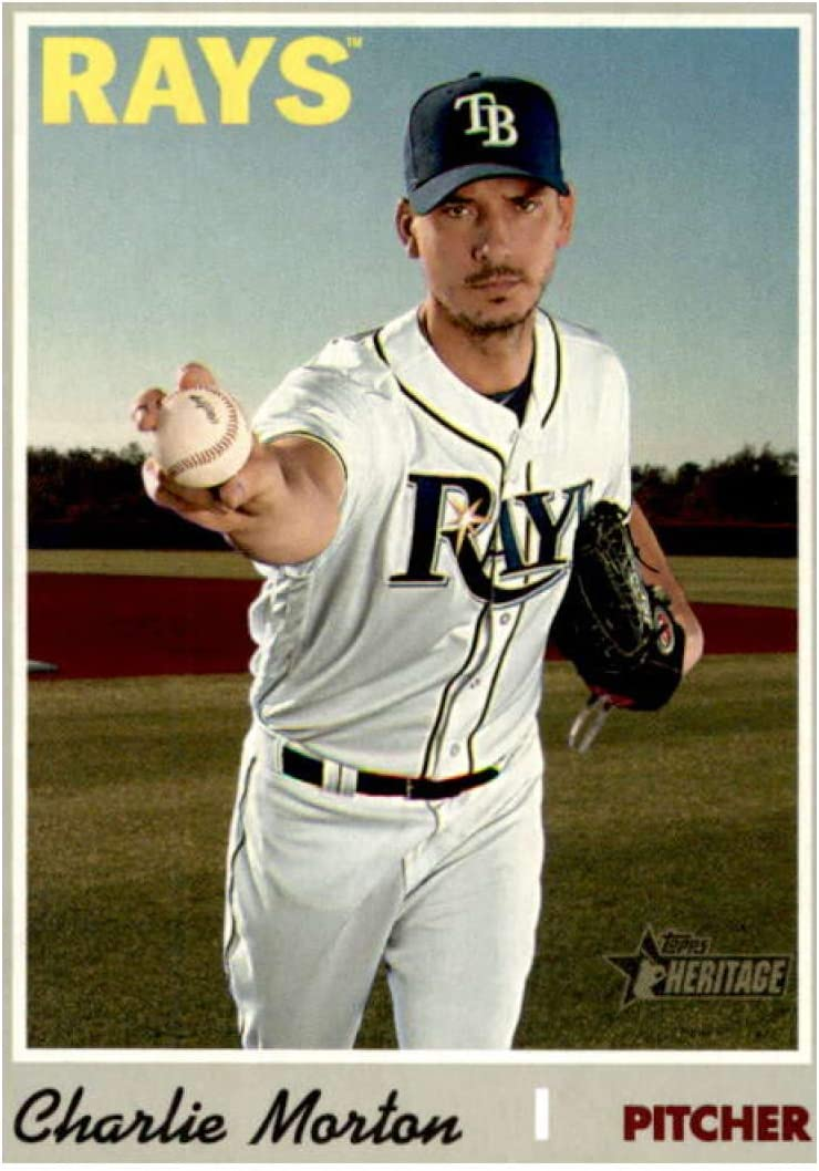 amazon com 2019 topps heritage high number 502 charlie morton tampa bay rays baseball card collectibles fine art 2019 topps heritage high number 502 charlie morton tampa bay rays baseball card