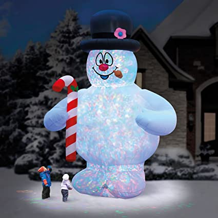 Amazon Com Hammacher Schlemmer The 18 Frosty The Snowman Lightshow