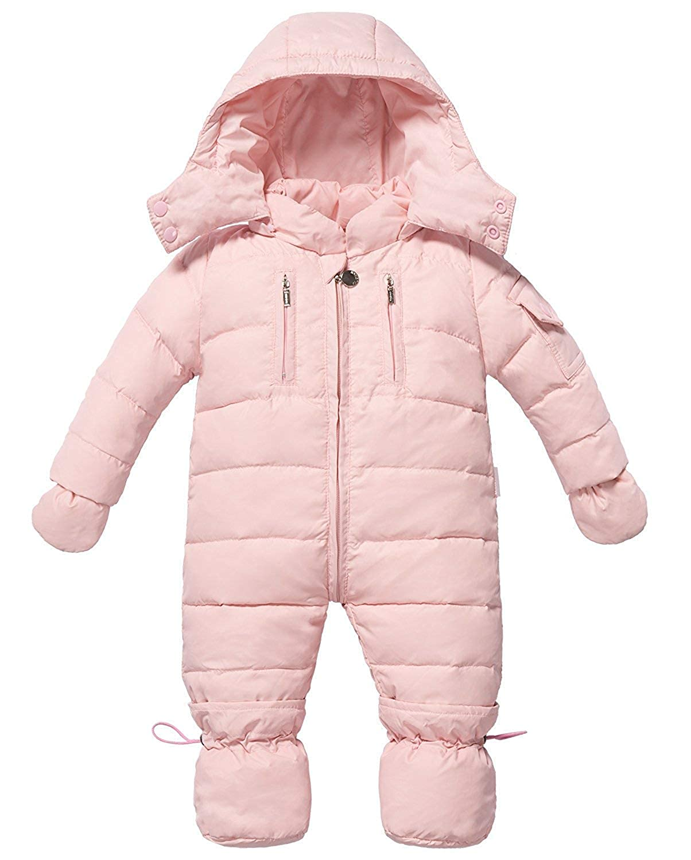 ZOEREA Unisex Baby Snow Suits Infant Newborn Hoodie Down Jacket One-Piece Romper 0-18 Months Jumpsuits.