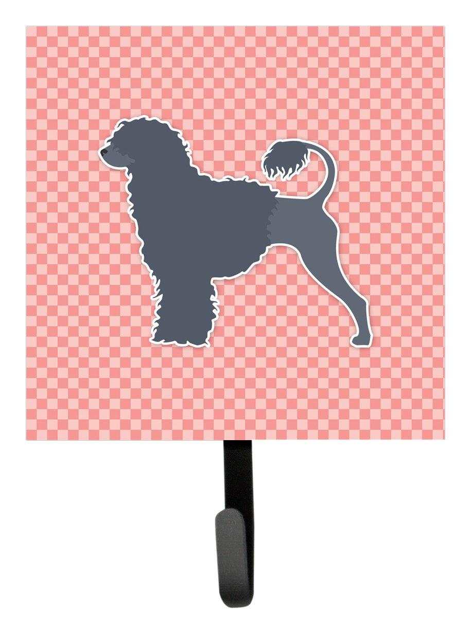 Carolines Treasures Portuguese Water Dog Checkerboard Pink Leash or Key Holder BB3668SH4 Small Multicolor