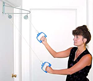 DMI Shoulder Pulley for Physical Therapy, Over The Door Pulley, White