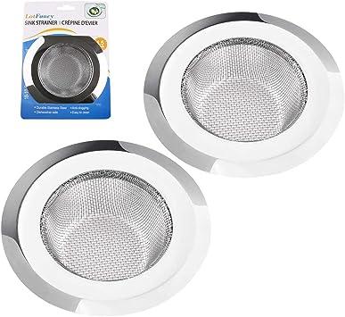 Amazon.com: Paquete de 2 coladores para fregadero de cocina ...