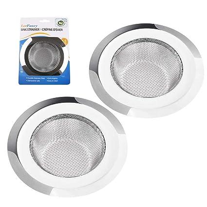 Amazon.com: 2 piezas de filtro de drenaje de acero ...