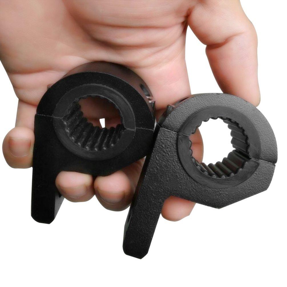 Staffa universale per staffa di montaggio Bull Bar da 15-30mm per moto da auto (colore: nero) Gugutogo