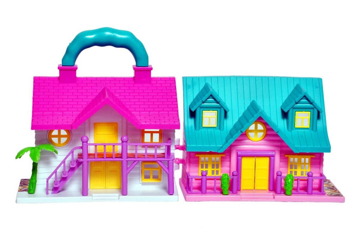 buy toyshine mini foldable twin sided doll house with toy