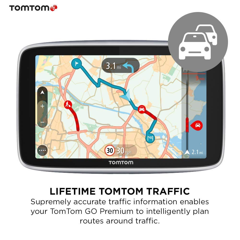 01e927c3a TomTom Car Sat Nav GO Premium 6 Inch with Updates via Wi-Fi, Lifetime  Traffic and Speedcam Warnings via SIM Card, World Maps, Last Mile  Navigation and ...