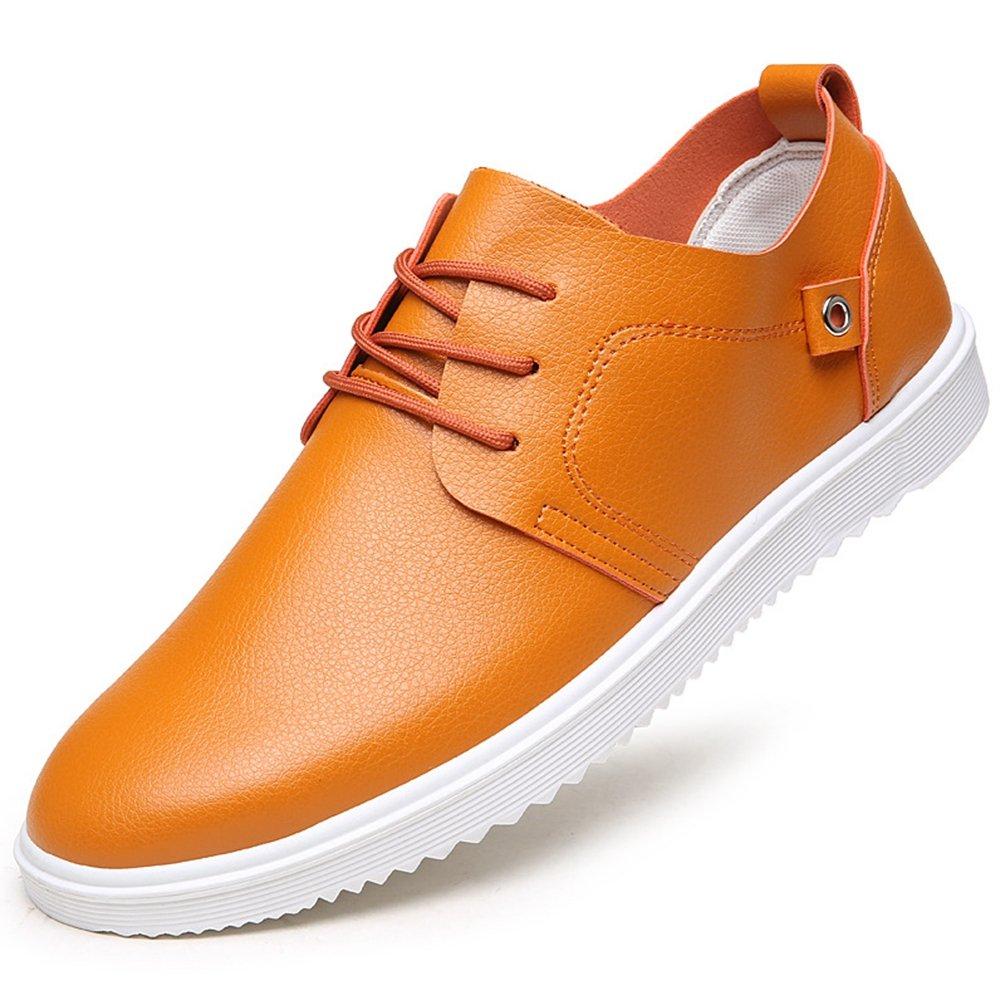 XIGUAFR Chaussure à Lacets pour Homme en Cuir Souple Chaussure au Loisir Basse Respirant Comfortable
