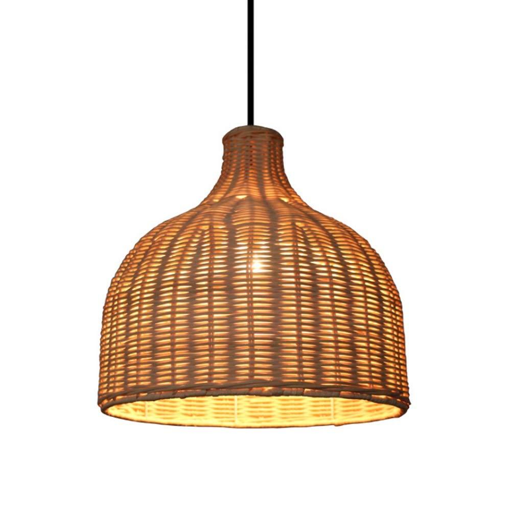 Amazon com tzz bamboo chandelier retro light fixtures wicker light