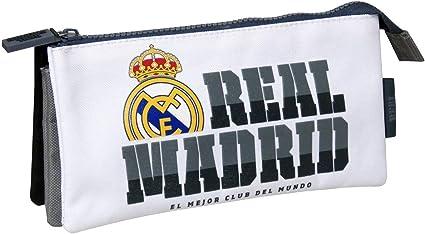 Real Madrid PT-293-RM Portatodo Triple: Amazon.es: Oficina y papelería
