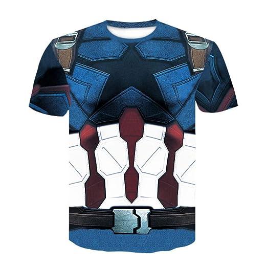 JUFENG Superhéroe 3D para Hombre Capa De Base De Compresión De ...