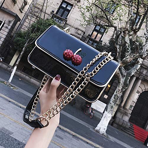 nero WSLMHH quadrata a piccola femminile argento tracolla marea a versione borsa laser borsa vernice Borsa tracolla tracolla della brevettata in coreana CgwnCqFRZr