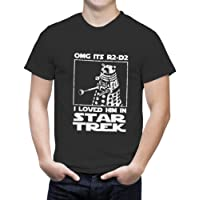 Tees In The Hood Men's OMG It's R2D2 I Loved Him in Star Trek Tshirt - Loose Fit. Various Colours and Sizes