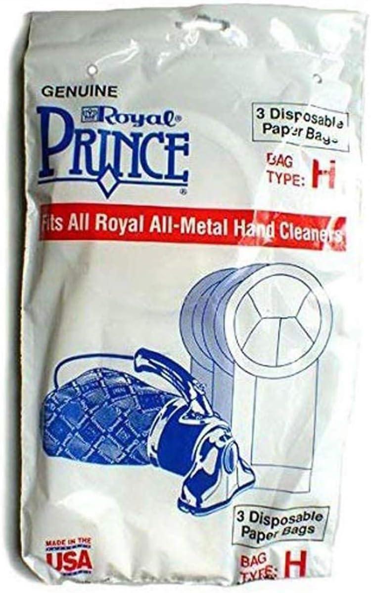Royal Prince Type-H Vacuum Cleaner 3PK Paper Bags # 3050247001