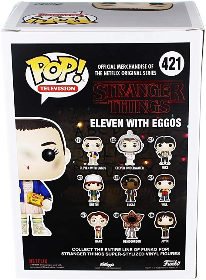 Styles May Vary Funko Pop Stranger Things Eleven with Eggos Vinyl Figure With//Without Blonde Wig