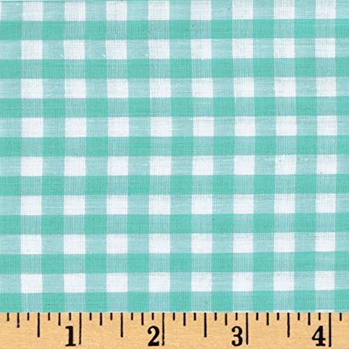 (Richland Textiles Richcheck 60in Gingham Check 1/4in Mint Fabric by The Yard, Mint)