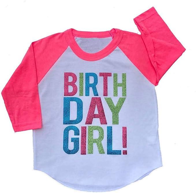 Amazon.com: SoRock - Camiseta con purpurina para niña: Clothing