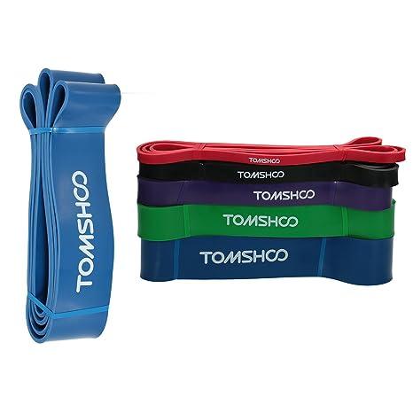TOMSHOO Bandas Elásticas 208cm Banda Resistencia para Ejercicio Yoga Fitness Pilates o Terapia Física