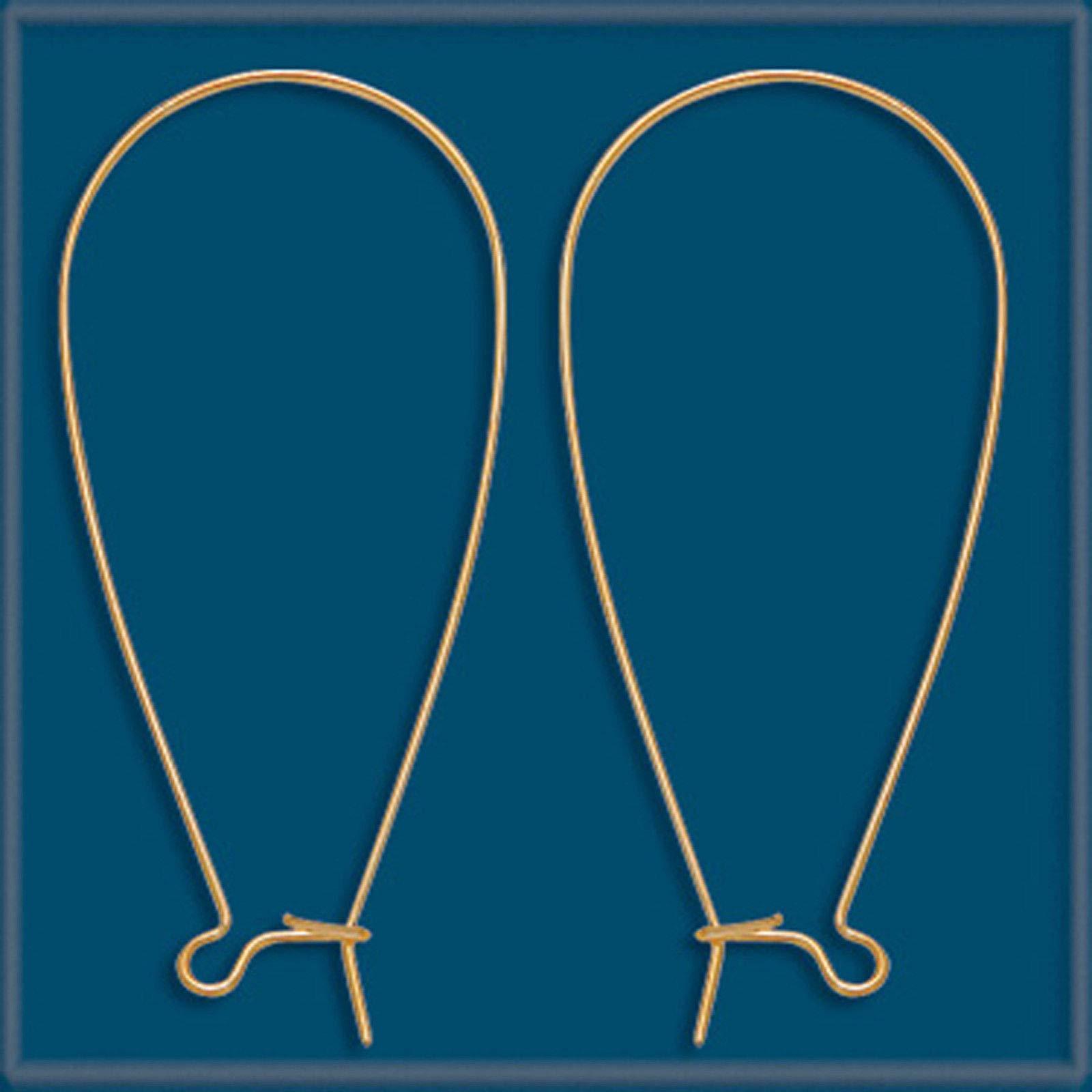 20pc 46mm 14K Gold Filled Kidney Earring Wire Hook