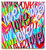 Free Shipping 39'' x 36 Love painting street art graffiti canvas nyc style contemporary pop art modern colorful original acrylic spray paint art work by Chris Riggs