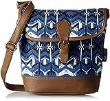 Kanvas Katha Women's Sling Bag (Blue) (KKRWV009)