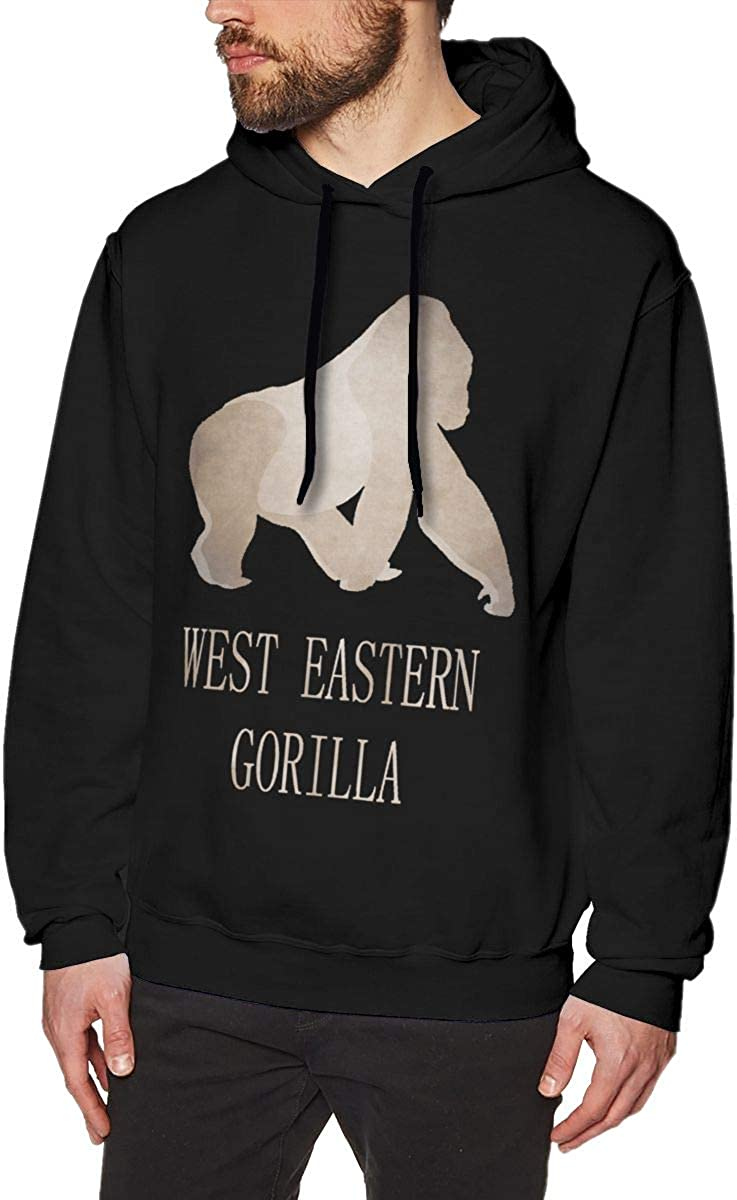 West Eastern Gorilla Mens Hooded Sweater Sports Casual Outdoor Fashion