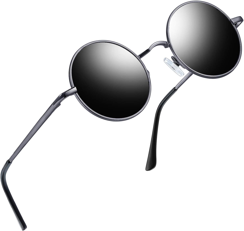Polarisé John Lennon Classique Lunettes de Soleil Rond Rétro Hippie Vintage