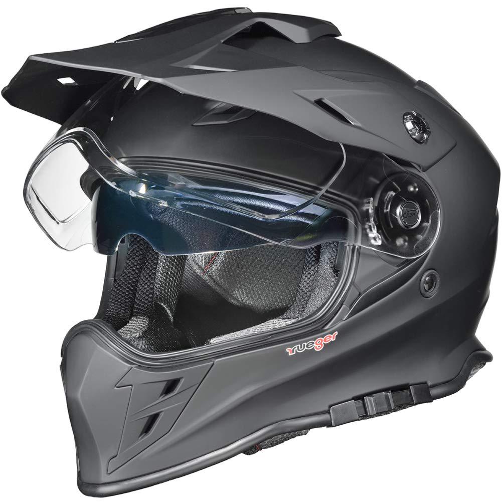 Gr/ö/ße:XL RX-967 Crosshelm Integralhelm Quad Cross Enduro Motocross Offroad Helm rueger 61-62 Farbe:Matt Schwarz