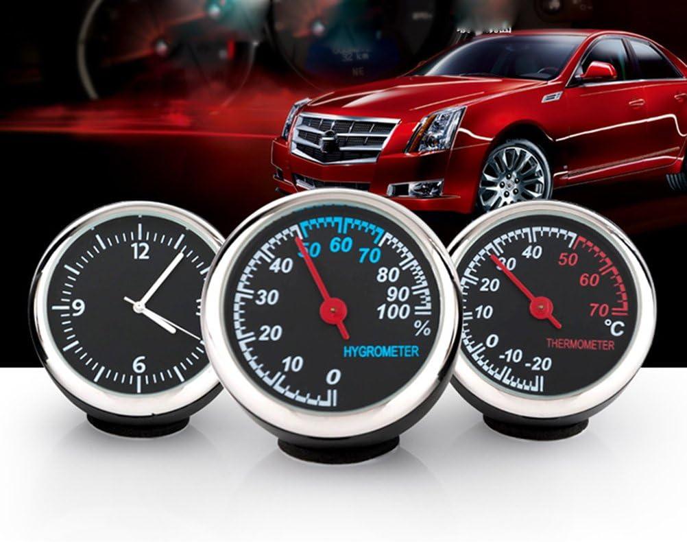 Winomo Set Mit Uhr Und Hygrometer Und Thermometer Beleuchtet Für Das Auto 3 Teilig Auto