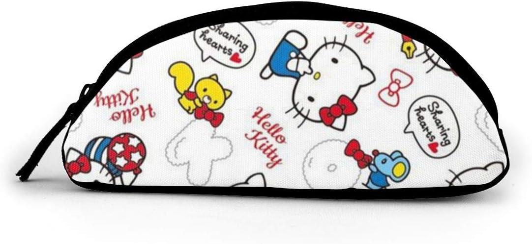 Hello Kitty - Estuche para lápices (tela, tamaño grande), diseño de corazones: Amazon.es: Oficina y papelería