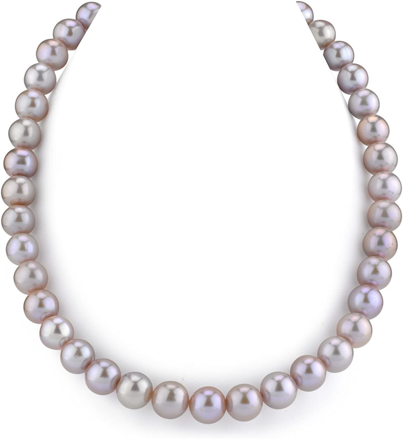 THE PEARL SOURCE 14K Gold AAA Quality White Freshwater Cultured Pearl Choker Necklace for Women in 16 Length