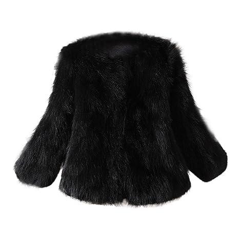 ?Wintermantel damen Mosstars Mantel Damen Pelz Jacke Strauß Feder Weicher Pelz Mantel Jacken flaumiger Winter Xmax Freizeit M