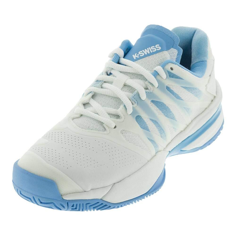 K-Swiss Women's UltraShot Tennis Shoe (White/Aquarius, 10 M US)