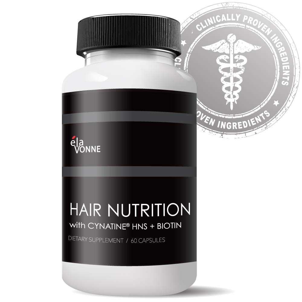 Hair Nutrition, Cynatine HNS + Bioin - Grow Hair Thicker, Longer, Stronger, Healthier - Protect Against Thinning & Loss - Hair Vitamins by ELAVONNE