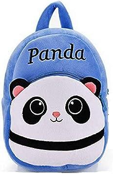 Blue Tree School Plush Soft Panda Cartoon Bag for Kids/Girls/Boys (Blue, 3 to 5 Year)