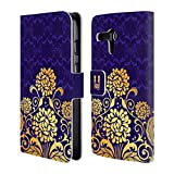 Head Case Designs Iris Modern Baroque Leather Book Wallet Case Cover For Motorola Moto Z2 Play
