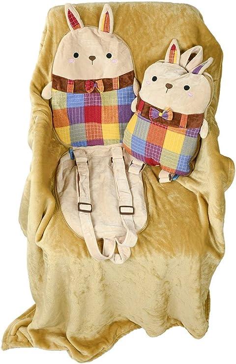 Senmiya Bunny Stuffed Animal Cute Throw Blanket Fuzzy Cuddle