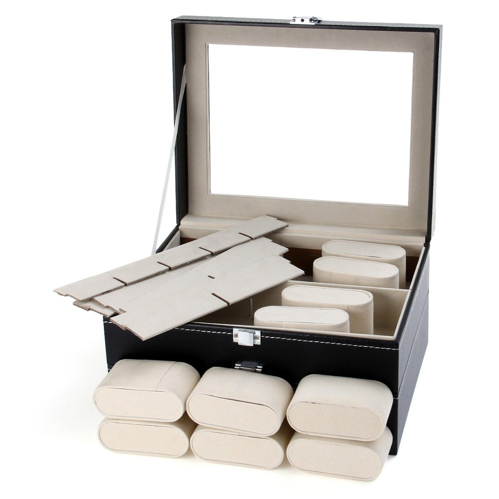 CXP 20 Grid Watch Storage box Window Leather a Variety of Jewelry gift Finishing box Practical by CXP (Image #4)