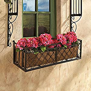 Design Toscano European-Style Metal Window Box