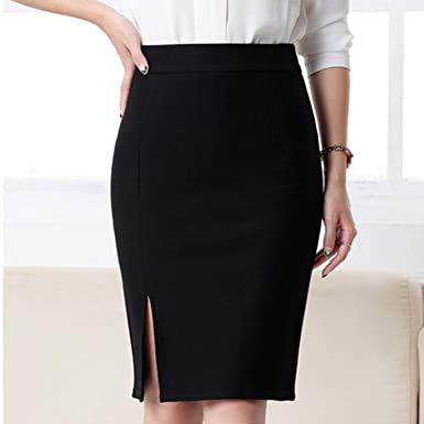 2f4827926 Women Formal Work Wear Skirts Ladies Sexy High Waist Mini Pencil Skirt 7  Colors Stretch Package