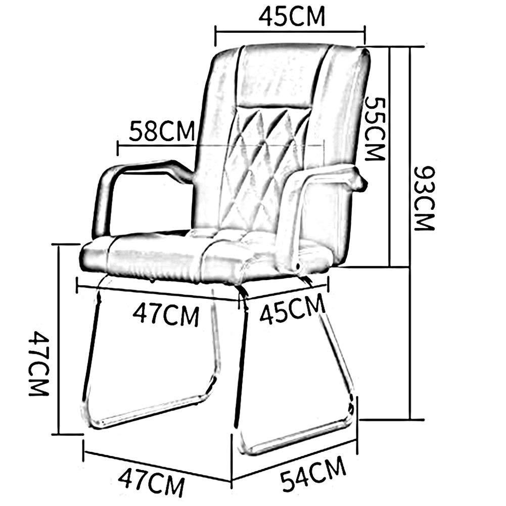 JIEER-C Fritidsstolar kontorsstol ergonomisk skrivbordsstol PU-säte armstöd ländrygg stöd tjockare vadderad mulitfunktion hållbar stark Svart