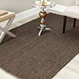 Safavieh Natural Fiber Collection NF447D Hand Woven Brown Jute Area Rug (5' x 8')