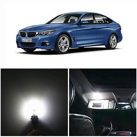 WLJH 14pcs 2835SMD blanco Canbus error coche gratis LED paquete de bombillas de luz interior para