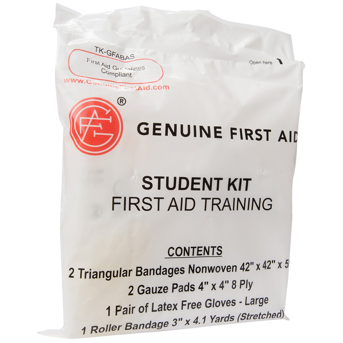 Genuine First Aid Student Basic Training Kit (Pack of 100)