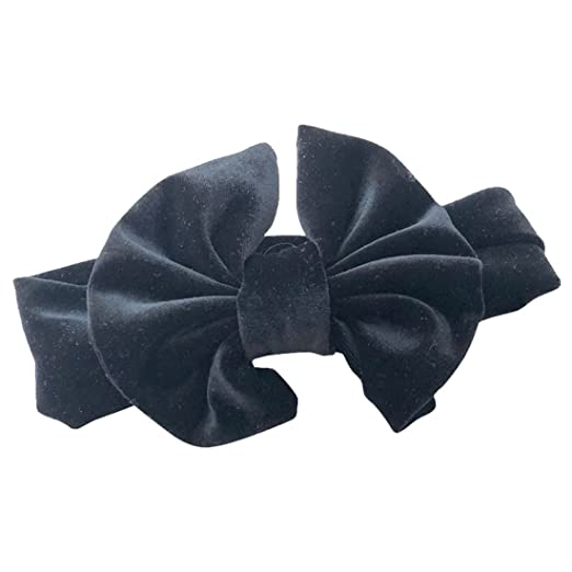 Image Unavailable. Image not available for. Color  BAOBAO Baby Girl Velvet  Big Bow Headband ... 89cb7adbfe3