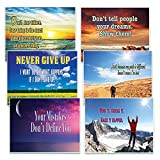 Creanoso Success Inspirational Quotes Greeting Postcards (30-Pack) – Encouraging Postcards for Inspirational Success and Inspiration – Great Gift Ideas for Men, Women, Teens, Adults, Seniors