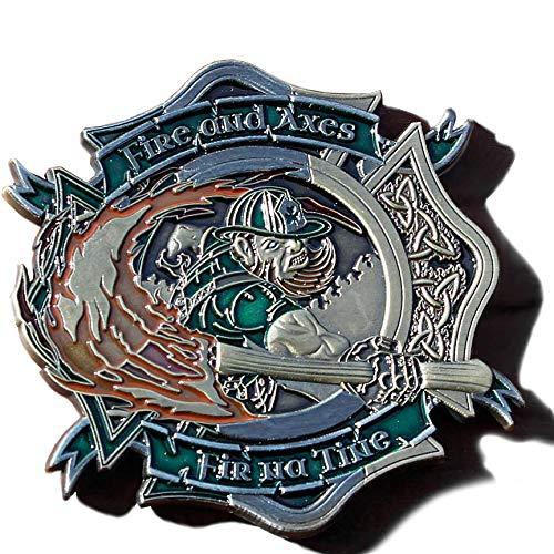 Firefighter Fir Na Tine Men of Fire Celtic Cross Coin