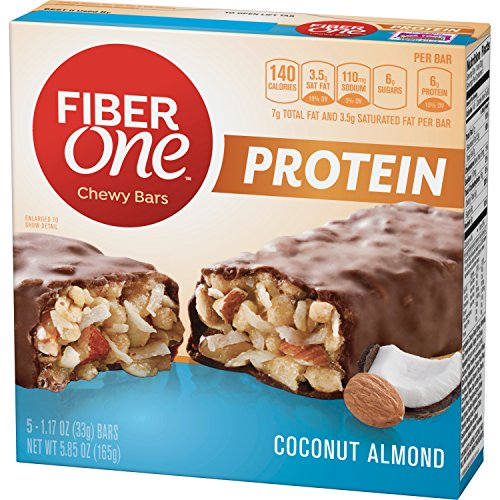 Fiber One Protein Bar, Coconut Almond Chewy Bars, 5 Fiber Bars, 5.85 oz (Pack of ()