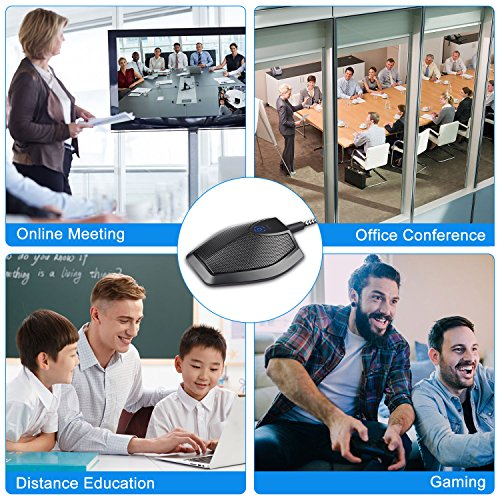 ELUTENG USB Condenser Microphone 360 ° Omnidirection Desktop Conference Microphone USB Computer Plug & Play with Mute Buttom Condenser PC Mic Compatible for Computer MacBook AIR/iMac / iMac Pro by ELUTENG (Image #4)
