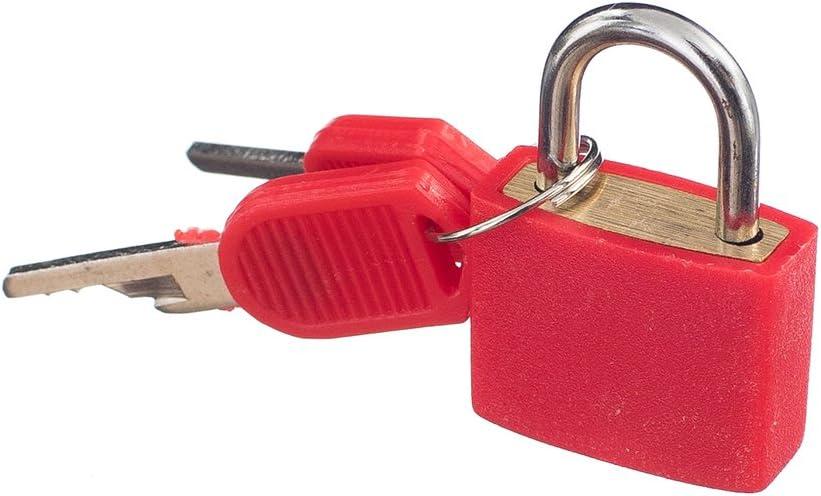 New Cabinet Luggage Security Metal Lock Padlock With 2 Keys Padlock Box Case Lock Mini Locks Safe Lock Red