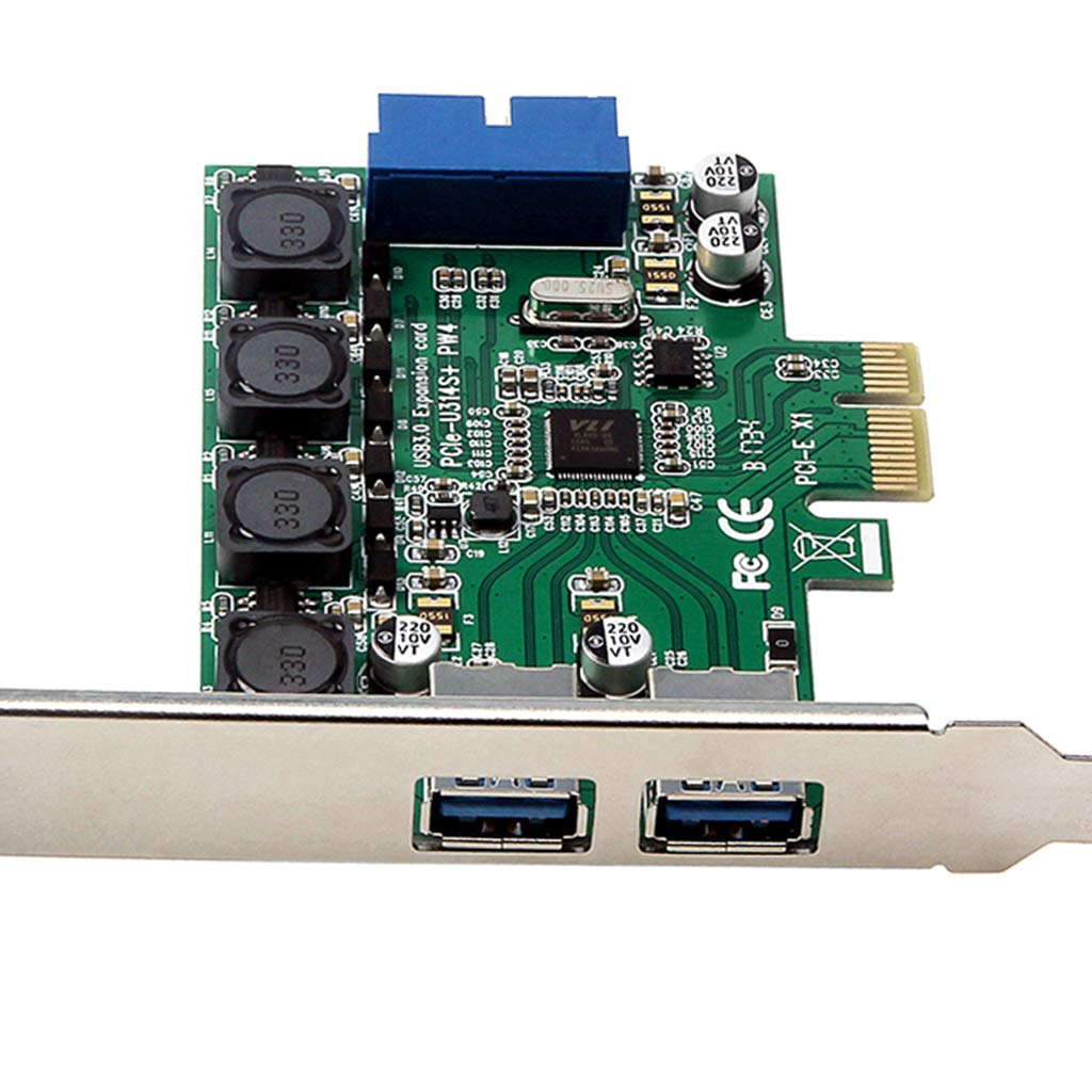 B Blesiya PCI-E PCI Express USB 3.0 Expansion Card to Internal 19Pin Header Fast 5Gbps PCI-Express USB3.0 Adapter Card